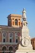Forli Aurelio Saffi statue in Saffi  square.
