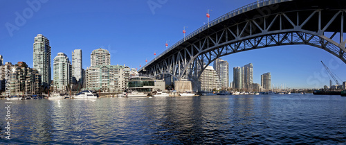 westend and yale town under graville st bridge, vancouver