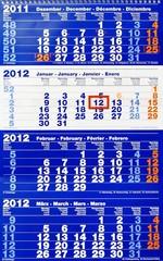 Kalender - Wandkalender - 4 Monate