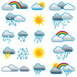 Wetter, Symbole, Piktogramme, Icons, Illustration
