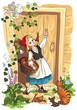Fototapeten,rotkäppchen,märchen,mädchen,bücher