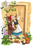 Illustration for fairy tale Little Red Riding Hood