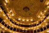 Auditorium. An interior of opera theatre. Lviv, Ukraine