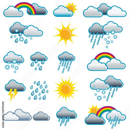 Wetter symbole piktogramme icons illustration