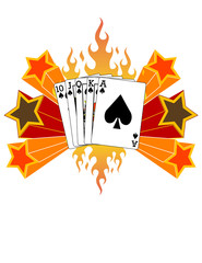 Royal Flush Graphic! Vector eps8 / clip art / jpeg
