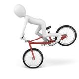 3d man with generic stunt bike poster