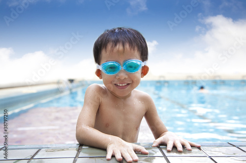 happy kid in the Swimming Pool