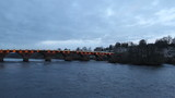Smeatons bridge over River Tay at dusk Perth Scotland