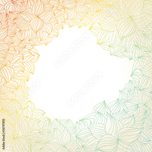 abstract flower background - vector illustration