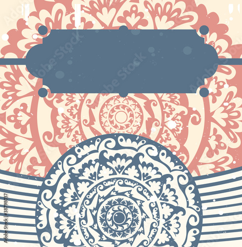 abstract vintage background - vector illustration