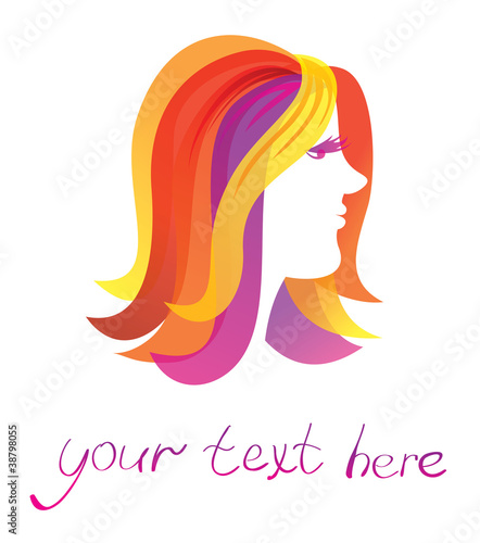 abstract beauty  logo with woman face