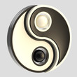 Yin-Yang balance black and white emblem isolated