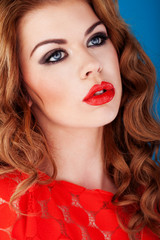 Red Lipped Beauty