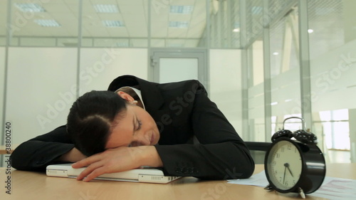 Sleeping businesswoman