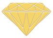 Diamant symbole en relief