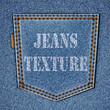 Back jeans pocket on realistic jeans texture