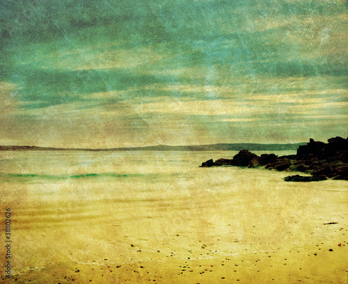 retro beach photo