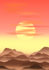 sunrise, vector file