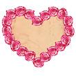 Detaily fotografie ve tvaru srdce růže rám