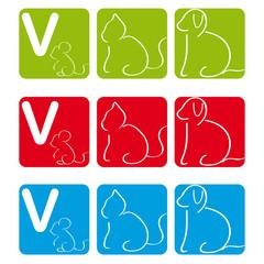 Hund Katze Maus Quadrat V