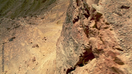 Stock Video Footage of a desert cliff in Israel.