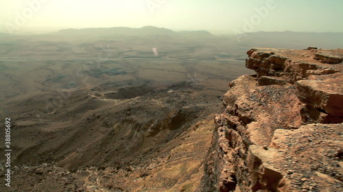 Stock Video Footage of Makhtesh Ramon crater in Israel.