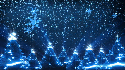 Christmas Trees and Snow (HD Loop)