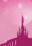 Fototapety pink fairy on toadstool