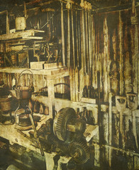 vintage tool shed