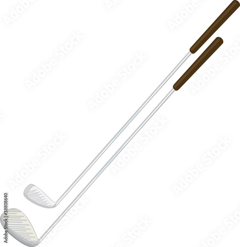 illustration golf driver with silver shaft