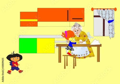w kuchni u babci