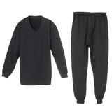set of warm winter black underwear for men