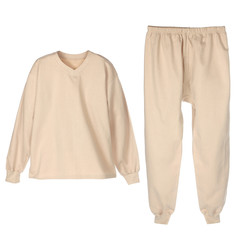 set of warm winter beije underwear for men