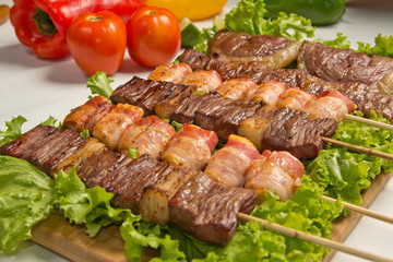 Espetos de carne