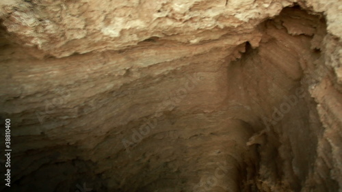Stock Video Footage of a crevasse in the desert floor in Israel.