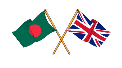 United Kingdom and Bangladesh -  alliance and friendship