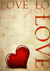 Valentinskarte - Retrostyle