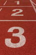 number on a red running track