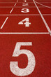 number on the red running track