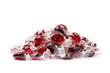 Rote Bonbons auf einem Haufen