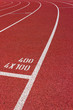 4x100 Curve of a Red Running Track