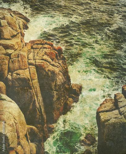 old rough sea photo