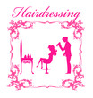 beautiful woman in hairdressing salon .