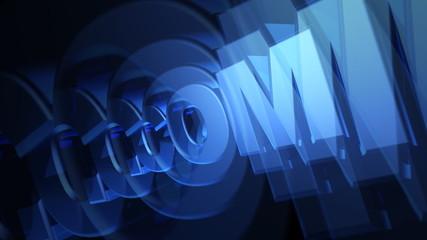 .COM Domain 3D Blue Text