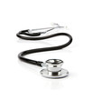 Stethoscope over white background