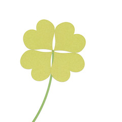 recycle paper clover with four leaves