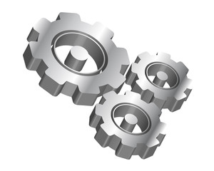 3D Zahnräder Vektor-Icon