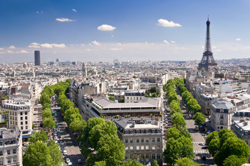 View on Paris from Arc de Triomphe