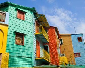 Colourful buildings in La Boca