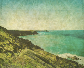 retro cornwall coast